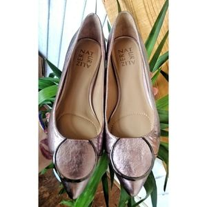 Naturalizer metallic pastel flats